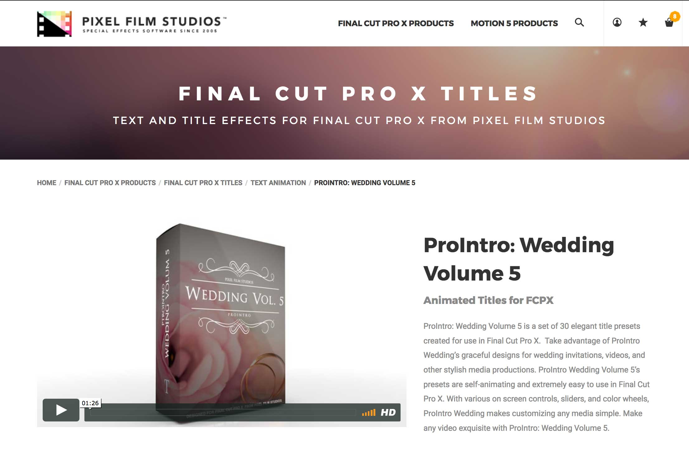 A New FCPX Plugin was released called ProIntro Wedding Volume 5