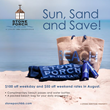 "Stone Porch by the Lake Announces New ""Sun, Sand and Save"" Summer Promotion"