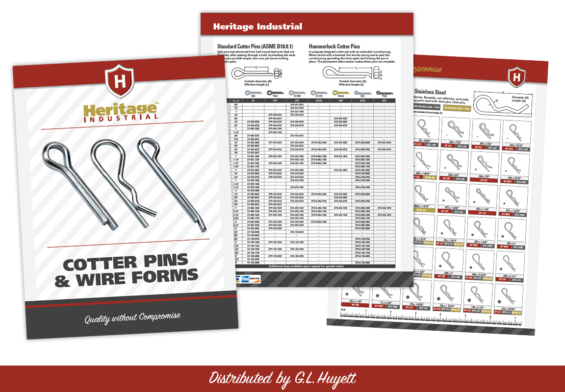 G.L. Huyett introduces Heritage Industrial™ Cotter Pins and Wire ...