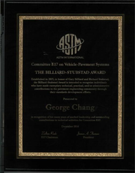 Dr. George K. Chang, The Transtec Group's Director of Research, is the recipient of the 2017 Billiard-Stubstad Award.