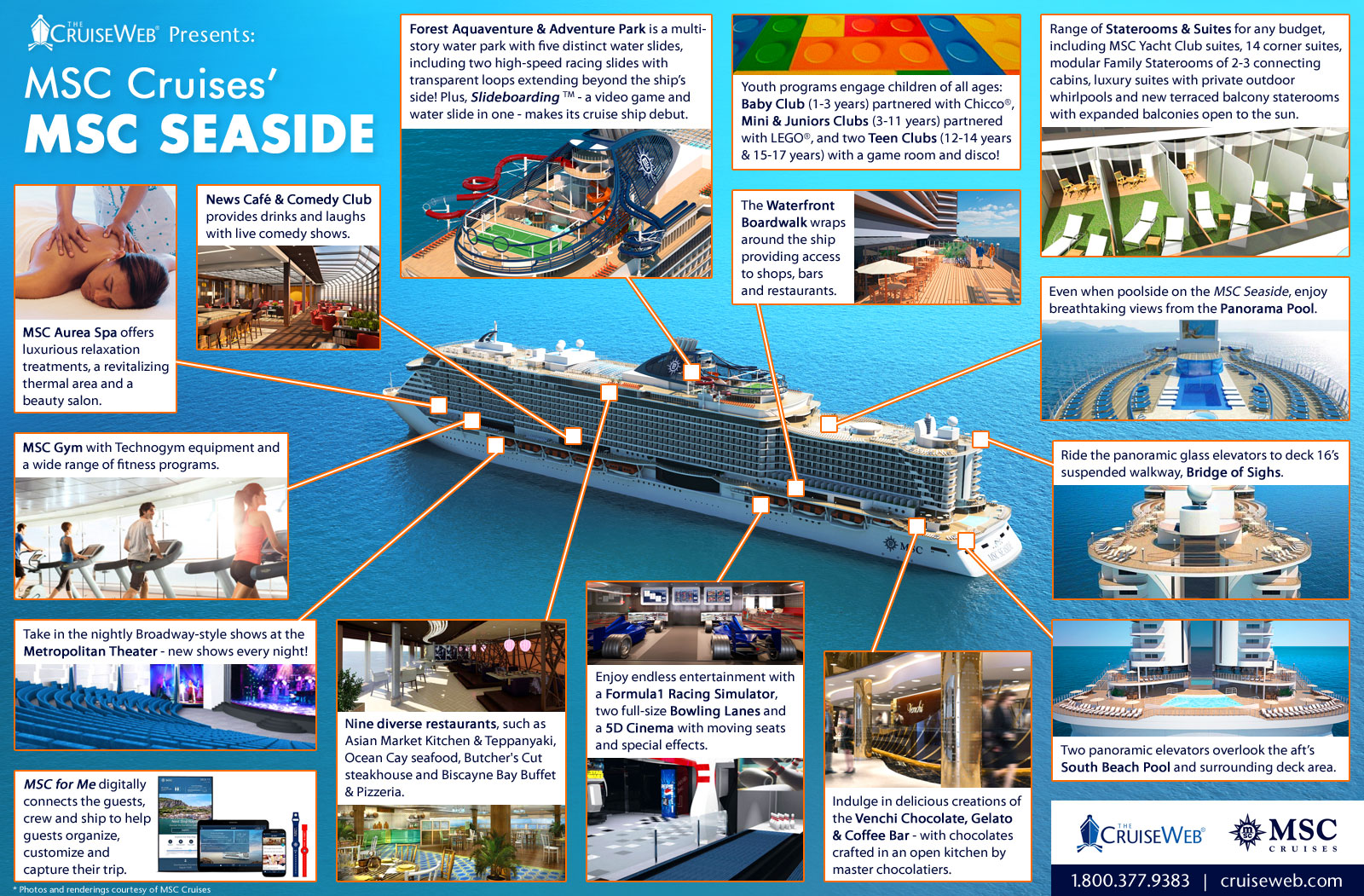 Explore The Futuristic Msc Seaside Cruise Ship With The