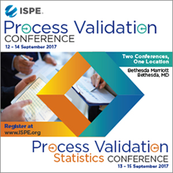 2017 Process Validation and Process Validation Statistics Conferences