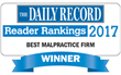 D'Amore Personal Injury Law Voted #1 Malpractice Firm by Maryland Daily Record
