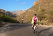 Cyclists enjoying the warm Arizona sunshine on a 2017 Sojourn bike tour
