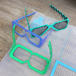 Various shapes of glasses made using 3Dmate Design Mat and 3d pen