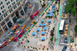Overhead Shot Of Pedestrian Plaza In NYC