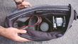Mexxenger has 3 interchangeable interiors—a waterproof lining, a padded camera insert, and a document organizer.