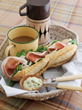 Parma Ham, Parmigiano Reggiano and Basil Mayonnaise Baguette