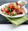 Parma Ham, Strawberry and Mozzarella Salad with Kiwi-Lime dressing