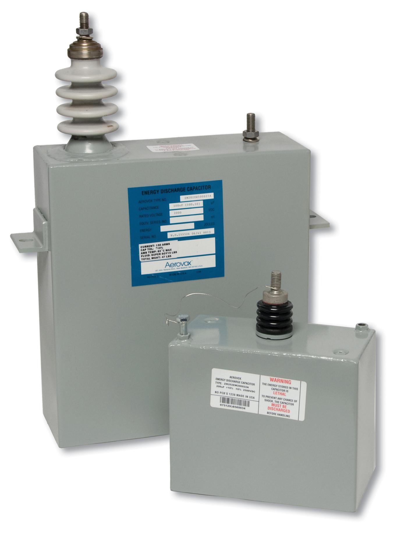 High Voltage Capacitors : Aerovox corp increases high voltage range in film capacitors