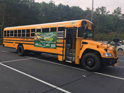 Fulton County School System rolled out a brand-new fleet of 90 Blue Bird propane autogas-fueled school buses equipped with three-point seat belts. It's the largest fleet of its kind in the state.