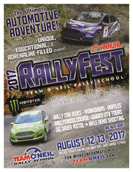 Team O'Neil Rally School RallyFest August 12-13, 2017