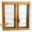 Italian Gold-Leaf 2-Door Wall-Mount Curio Display Cabinet offered exclusively at LimogesCollector.com