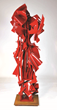 "Albert Paley - Harlequin, 2013, weathering steel, monochromed, 80"" x 27.5"" x 25.5"""