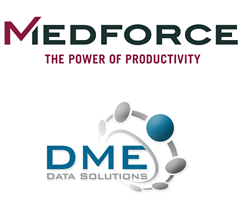 Medforce Technologies logo and DME Data Solutions Logo