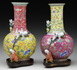 "Two Famille Rose ""Three Boy"" Vases, estimated at $20,000-30,000."