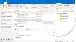 Outlook with embedded Cloud Storage