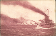 """US Battlefleet Leaving Hampton Roads"" 1907, postcard published by LE Lines Music Company, Springfield, MO"