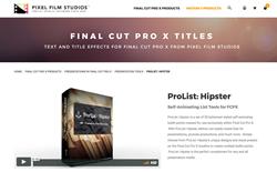 ProList Hipster - Pixel Film Effects - Final Cut Pro X