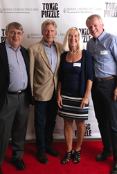 From left to right: Dr. Paul Alan Cox, Harrison Ford, Marianne Landin, and Bo Landin