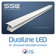 DualLine LED Bi-directional with adjustable reflector and light pattern.