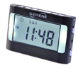 The battery-powered Serene Innovations VA3 Vibrating Travel Alarm Clock wakes with vibration and/or loud alarm.