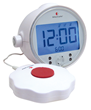 The Classic Vibrating Alarm Clock from Bellman & Symfon wakes with vibration or a loud alarm.