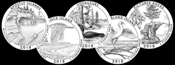 2018 America the Beautiful Quarters Program Coin Designs