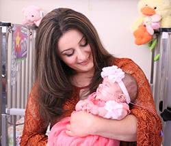 Karine Petrosyan and baby Abigail