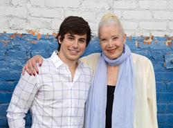 Actor Gonzalo Martin and Golden Globe Winner Sally Kirkland