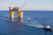 Crowley Supports Stampede Platform Tow-Out and Installation in the U.S. Gulf