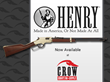 Crow Shooting Supply Now Distributing Henry Repeating Arms; Celebrates with Deal