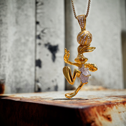 King Ice and Bugs Bunny Space Jam Necklace