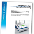 New METTLER TOLEDO Paper Explores How Leveling Features Help Assure Balance Accuracy