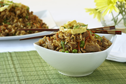 Beef Fried Rice from Dream Dinners, the originator of the meal assembly industry