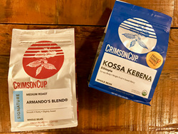 New coffee bags from Crimson Cup Coffee & Tea
