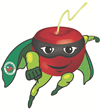 "Meet ""Super Cherry"" a super fruit super hero from Graceland Fruit"