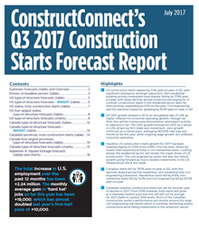 ConstructConnect's  Quarterly Forecast combines its proprietary data with macroeconomic factors and Oxford Economics econometric expertise.