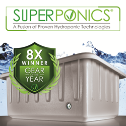 image of superponics by Supercloset with award for best hydroponic system