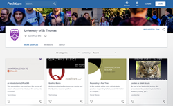 The University of St. Thomas in Minnesota's Network on Portfolium