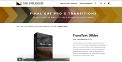 Pixel Film Studios Plugins - TransText Slide - FCPX Effects