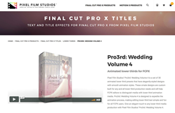 Pro3rd Wedding Volume 4 - Final Cut Pro X Effects - Pixel Plugins
