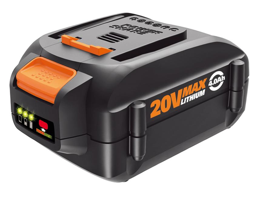 Worx Introduces 20 Volt Max 4 0 Ah Battery Extends Lawn