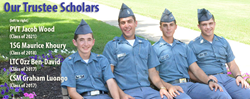 Our recent Trustee Scholarship winners at Fork Union Military Academy