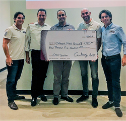 Shown (L-R): Matt Perelman, Managing Partner & Co-Founder, Cambridge Auto Group; Dominic Bardos, Chief Financial Officer, Cambridge Auto Group; Jose Costa, Paint & Collision Group President, Driven Brands; Uri Kenig, Chief Executive Officer, Cambridge Aut