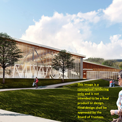 Conceptual rendering of new Miwok Center at COM's Indian Valley Campus.