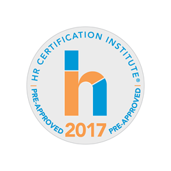 """The use of this seal confirms that this activity has met HR Certification Institute's® (HRCI®) criteria for recertification credit pre-approval."""