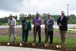 Robins & Morton and Harrah's leadership break ground on the new Multi-tainment Center Addition.