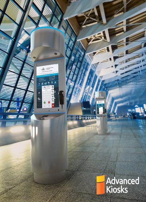 Advanced Kiosks Introduces The Tower Kiosk For Airport