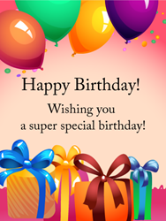 Colorful Birthday Gift Box Card